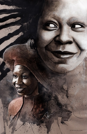 <i>Whoopi Goldberg</i> Wizard World Comic Con VIP Exclusive Lithograph by Rob Prior