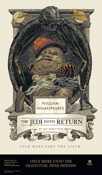 <b><i>William Shakespeare's The Jedi Doth Return</i> Philadelphia Comic Con Exclusive Poster by Ian Doescher</b>