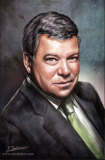 <i>William Shatner</i> Wizard World Comic Con VIP Exclusive Lithograph by Cris Delara