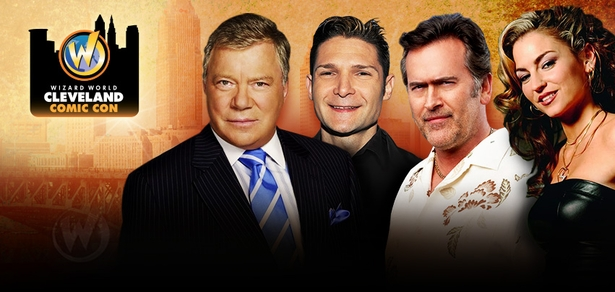 William Shatner, Bruce Campbell, Seth Gilliam, Taryn Manning Among Top Celebrities Scheduled To Attend Inaugural Wizard World Cleveland Comic Con, February 20-21-22, 2015