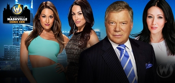 William Shatner, WWE� Superstar Kane� Headline Celebrity Guests @ Wizard World Nashville Comic Con, September 26-28