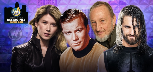 William Shatner, WWE� Superstar Seth Rollins�, Robert Englund, Emily Kinney, Billy Dee Williams Among Top Celebrities Scheduled To Attend Inaugural Wizard World Comic Con Des Moines, June 12-14