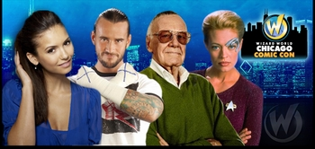 William Shatner, Stan Lee, WWE� Superstar CM Punk� Headline Expanded 2012 Wizard World Chicago Comic Con!