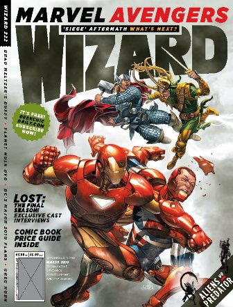 WIZARD #222 IS ON SALE NOW