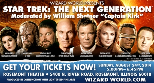 Wizard World Presents �Star Trek: The Next Generation� Panel Featuring Sir Patrick Stewart, Moderated By William Shatner, August 24 During Chicago Comic Con