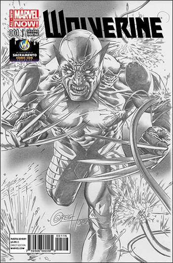 <i>Wolverine #1</i> Sacramento Comic Con Exclusive Variant Sketch Cover by Greg Horn