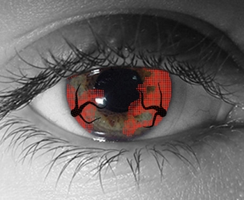 <b><i>World War Z Hemorrhage</i> Minneapolis Comic Con Exclusive Contact Lenses by ExoticLenses</b>