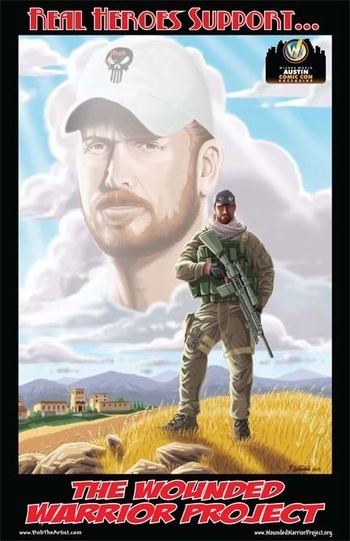 <i>Wounded Warrior Project - Chris Kyle</i> Austin Comic Con Exclusive Lithograph by Robert Luedke