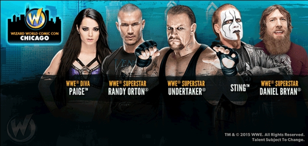 WWE� Superstars And Divas To Appear During 2015 Wizard World Comic Con Chicago, August 20-21-22