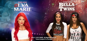 WWE� Divas Bella Twins� & Eva Marie� Saturday TRIPLE VIP Experience @ Wizard World Comic Con Sacramento 2015