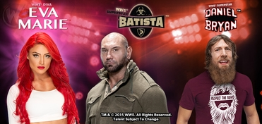 WWE� Superstars Batista�, Daniel Bryan� & WWE� Diva Eva Marie� PLATINUM VIP Experience @ Wizard World Comic Con Columbus (Ohio) 2015
