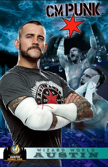<i>WWE� Superstar CM Punk�</i> Austin Comic Con VIP Exclusive Lithograph by Greg Horn
