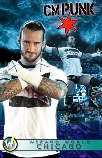 <i>WWE� Superstar CM Punk�</i> Chicago Comic Con VIP Exclusive Lithograph by Greg Horn