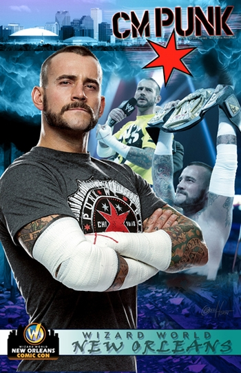 <i>WWE� Superstar CM Punk�</i> New Orleans Comic Con VIP Exclusive Lithograph by Greg Horn