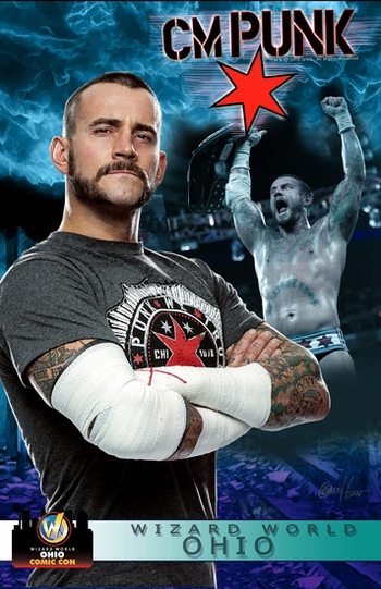 <i>WWE� Superstar CM Punk�</i> Ohio Comic Con VIP Exclusive Lithograph by Greg Horn