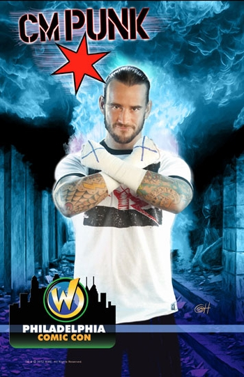 WWE� Superstar CM Punk� Philadelphia Comic Con VIP Exclusive Lithograph by Greg Horn