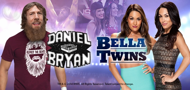 WWE� Superstar Daniel Bryan� & WWE� Divas The Bella Twins�, Nikki & Brie, Coming to Portland Comic Con!