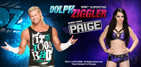 <i>WWE� Superstar Dolph Ziggler� & Diva Paige�</i> Coming to Wizard World Cleveland Comic Con, Saturday, February 21st!