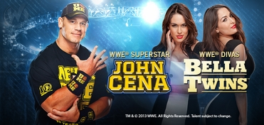 WWE� Superstar John Cena� & WWE� Divas The Bella Twins�  TRIPLE Platinum VIP Experience @ Austin Comic Con 2013