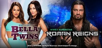 WWE� Superstar Roman Reigns�, Divas The Bella Twins� Added To Wizard World ZZZZZ Comic Con, Saturday, November 22nd!