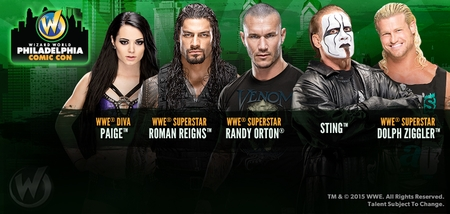 WWE� Superstars and Divas To Appear During 2015 Wizard World Comic Con Philadelphia, May 7-9