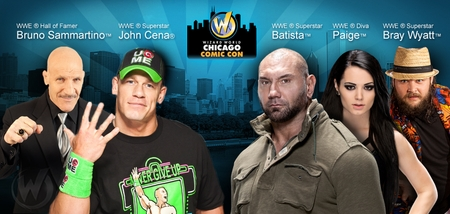 Wizard World Chicago Comic Con Announces WWE� Superstars John Cena�, Batista� and Bray Wyatt�, WWE� Hall of Famer Bruno Sammartino� and WWE� Diva Paige� on August 21-22-23