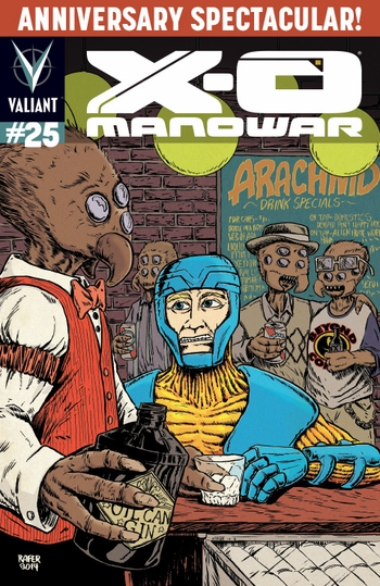 <i><b>X-O Manowar #25</i> Philadelphia Comic Con Exclusive Variant Cover by Rafer Roberts</b>