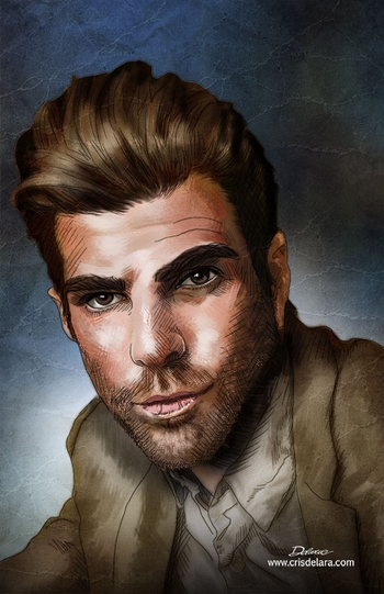 <i>Zachary Quinto</i> Chicago Comic Con VIP Exclusive Lithograph by Cris Delara