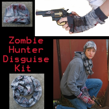 <i>Zombie Hunter Disguise Kit</i> Portland Comic Con Exclusive Zombie Hunter Disguise Kit by Steampunk Wolf, Barrett Wolfe