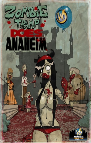 Zombie Tramp Anaheim Comic Con Exclusive Poster By Daniel Mendoza