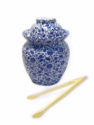 Blue/White Pickling Jar (Large)