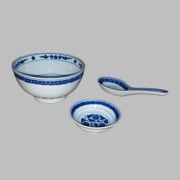 Flower Pattern Rice Bowl Set