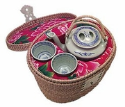 rattan tea cozy set<br> (temporarily not available)