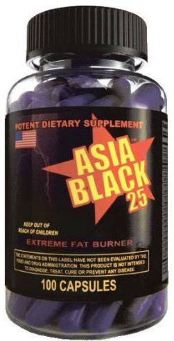 Asia Black 25mg Weight Loss Pill 100ct