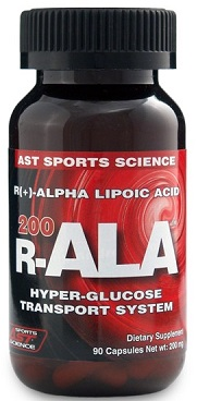 R-ALA  Alpha Lipoic Acid  200mg 90ct AST