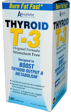 Thyroid T-3 180ct by Absolute Nutrition