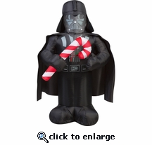 3.5 darth Vader w/ Candy Cane Inflatable