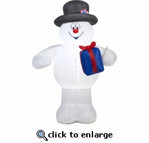 3.5' Frosty w/ Gift Inflatable