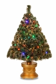 "36"" Fiber Optic ""Evergreen"" Tree w/50 Multi LED Lights"