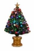 "36"" Fiber Optic Fireworks Tree w/Ornaments"