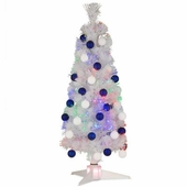 "36"" Fiber Optic White Fireworks Tree"