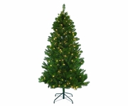 4.5' Mixed Pine Prelit 100 (clear or multi) lights
