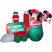 4' Mickey & Minnie on Train Scene Inflatable