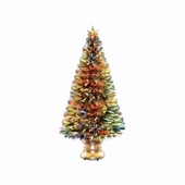 "60"" Fiber Optic ""Evergreen"" Tree w/ Gold Base"