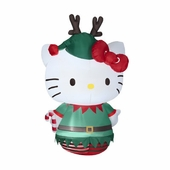 5 �'  Hello Kitty Dressed as Elf Inflatable