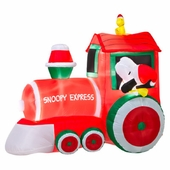 5' Snoopy & Woodstock on Train Scene Inflatable