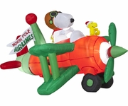 6.5' Animated Snoopy, Woodstock Airplain
