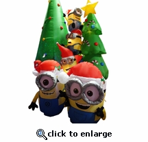 6' Minion Decorating Tree Inflatable