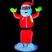6' Neon Dancing Santa Animated Inflatable