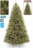"7 �' Poly ""Feel Real""  Delran Douglas Pre-Lit Tree (750 Dual Color <b>LED</b> Lights)"